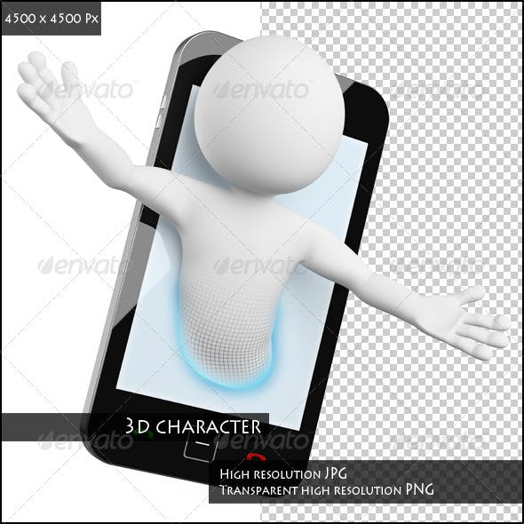 3D Man. Mobile Video Call