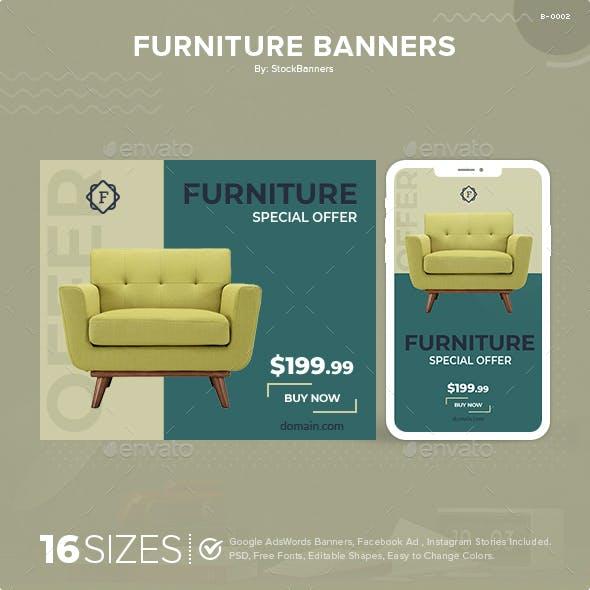 Furniture Web Banners