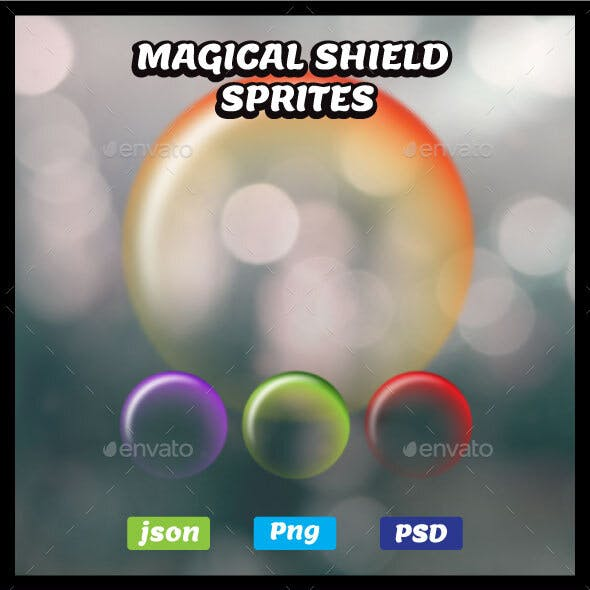 Magical Shield Sprites Game Asset