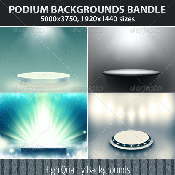 Podium Backgrounds Bundle