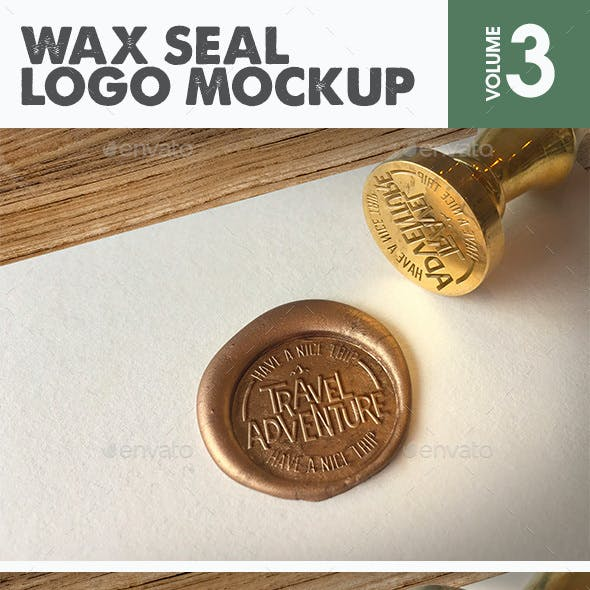 Wax Seal Logo Mockup Vol.3