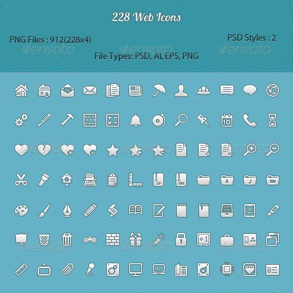 228 Pixel Perfect Icons