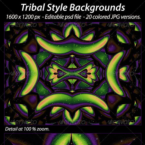 20 Tribal Style Backgrounds