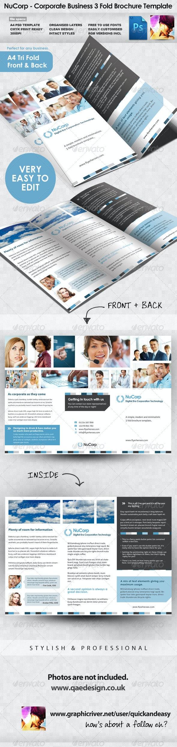 Corporate 3 Fold Brochure Template - Corporate Brochures