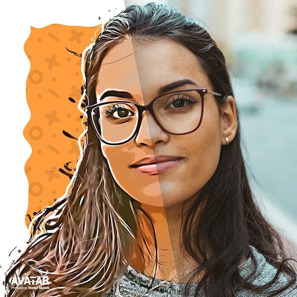 Vector Sketch - Avatar - Cartoon Photoshop Plugin