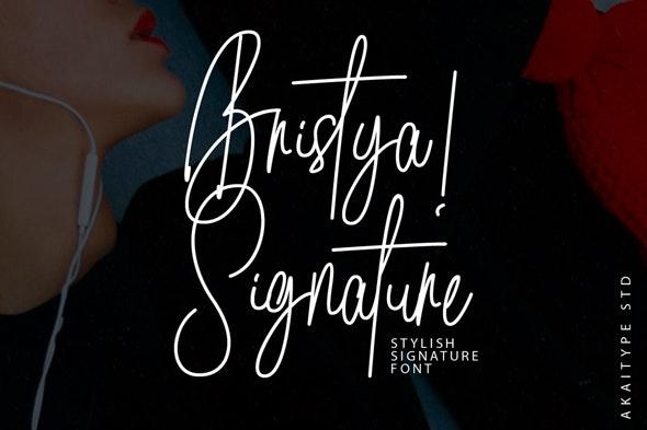 Brisya Signature - Hand-writing Script