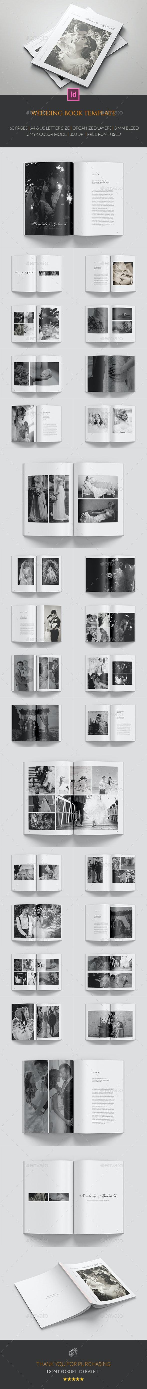 Wedding Book Template - Photo Albums Print Templates