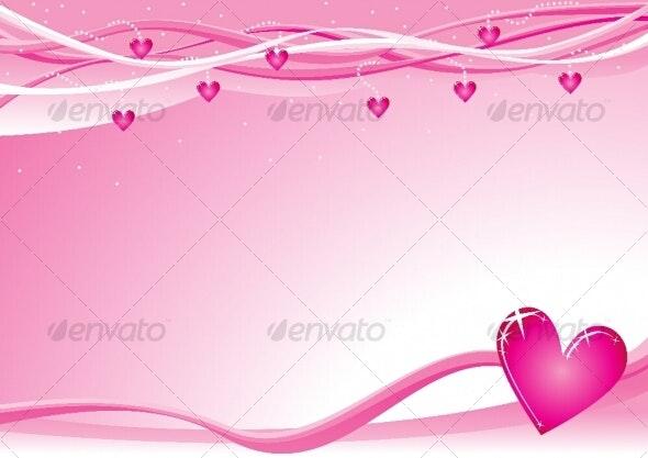 Valentine background - Decorative Symbols Decorative