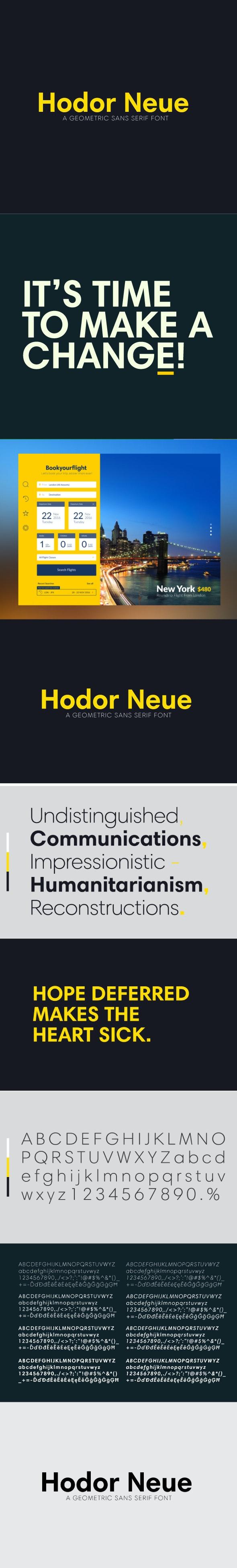 Hodor Neue Sans Font - Miscellaneous Sans-Serif