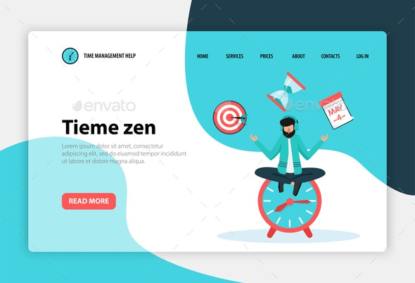 Time Management Web Concept Banner By Macrovector Graphicriver