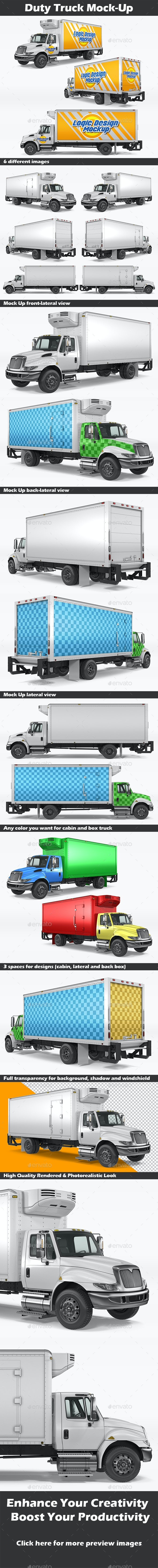 Duty Truck Mock-Up - Vehicle Wraps Print