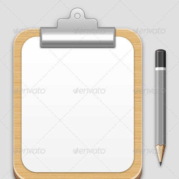 Clipboard and Pancil