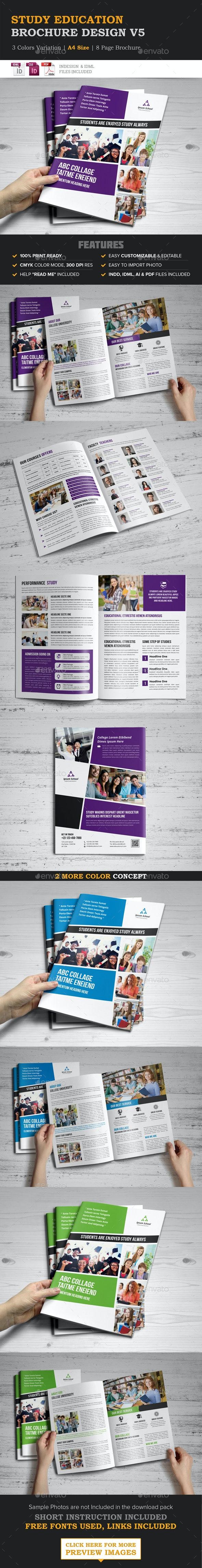 Education Brochure Indesign Template - Corporate Brochures