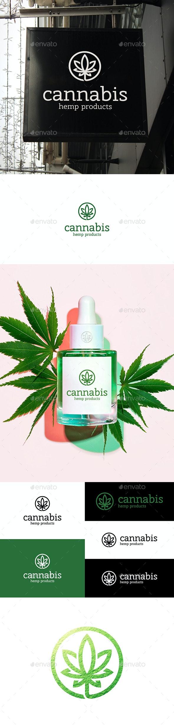 Cannabis Leaf Logo - Nature Logo Templates
