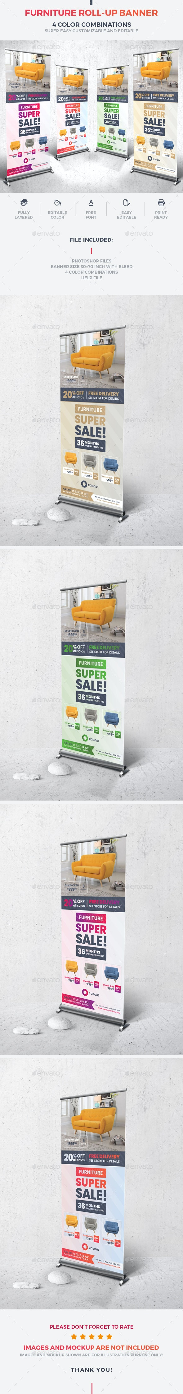 Furniture Roll-Up Banner - Signage Print Templates