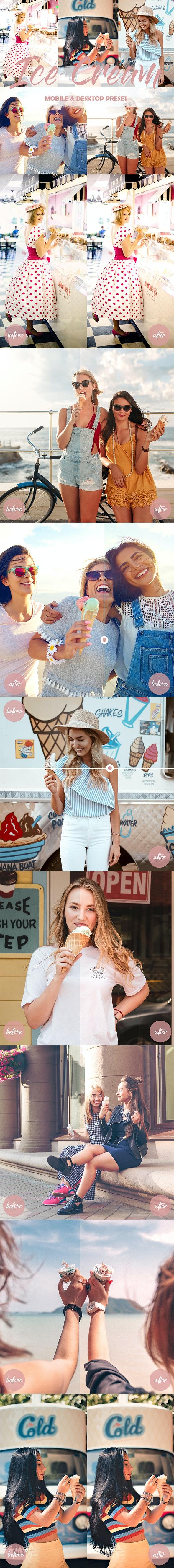 Lightroom Mobile and Desktop Presets Ice Cream - Lightroom Presets Add-ons