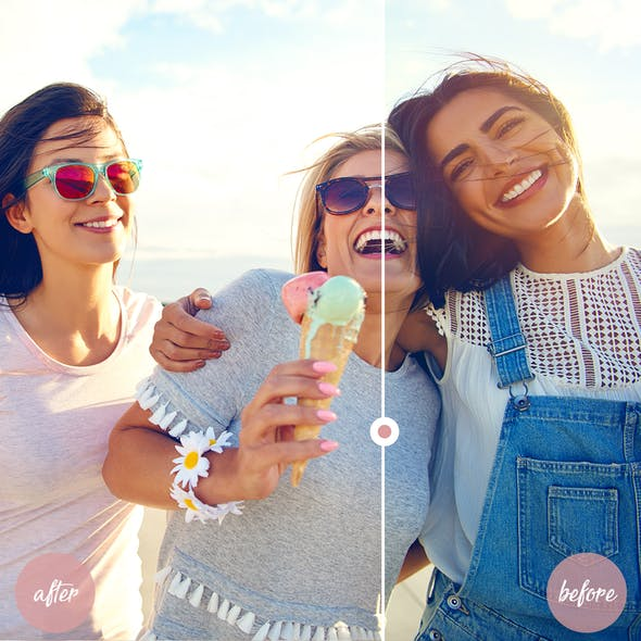 Lightroom Mobile and Desktop Presets Ice Cream