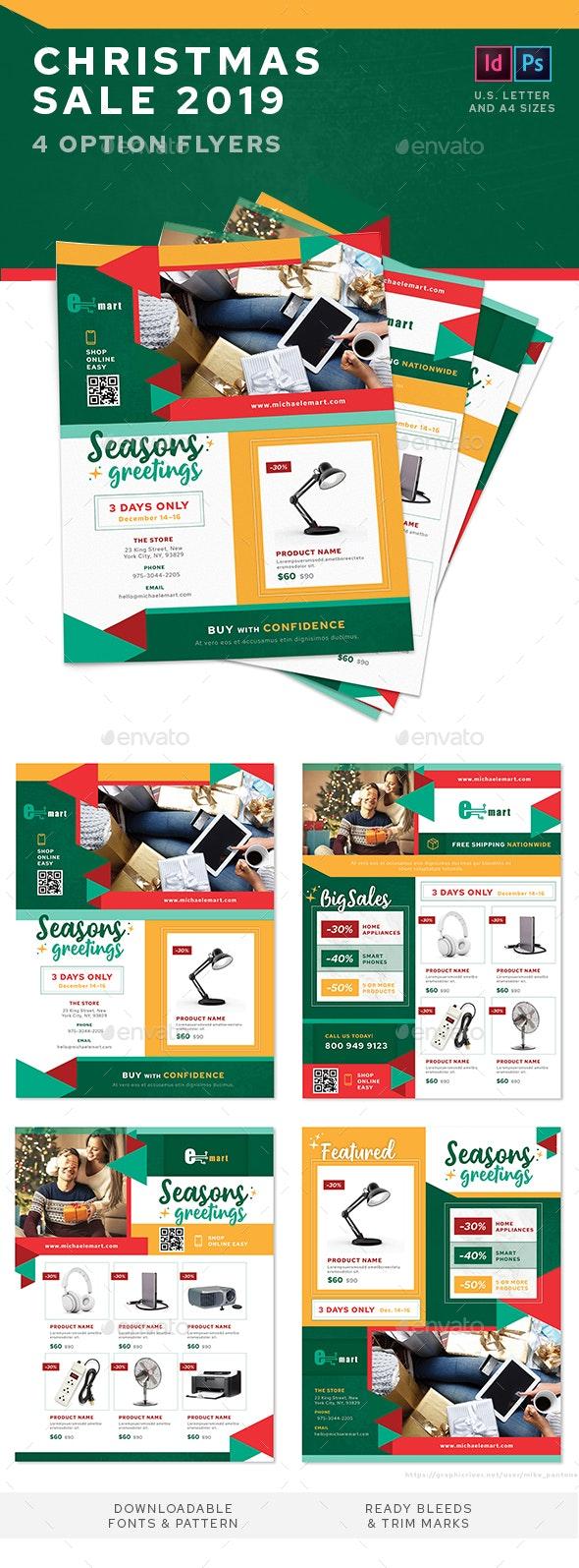 Christmas Mega Sale 2019 Flyers – 4 Options - Commerce Flyers