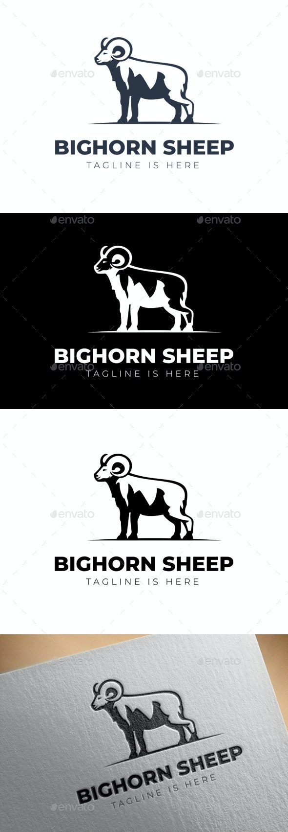BIGHORN SHEEP LOGO - Animals Logo Templates