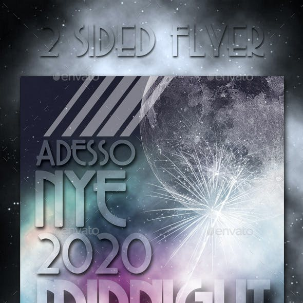 Midnight Ball New Years Eve Party Flyer 2020