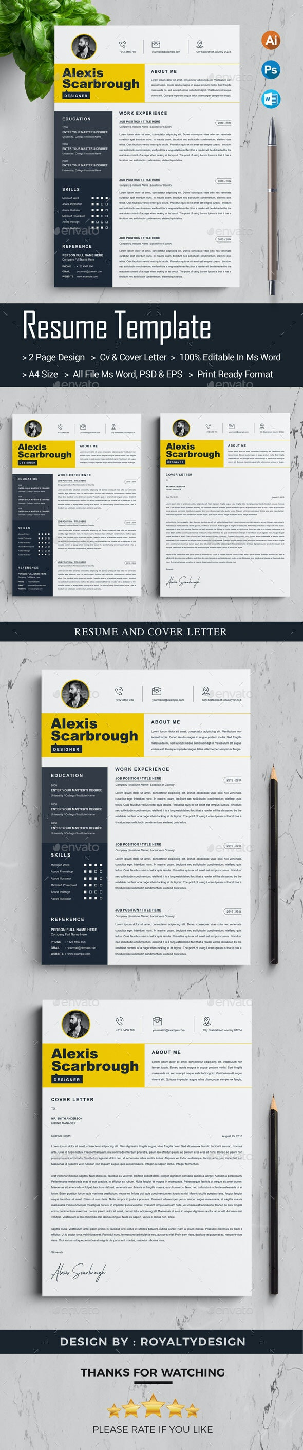 CV Template - Resumes Stationery