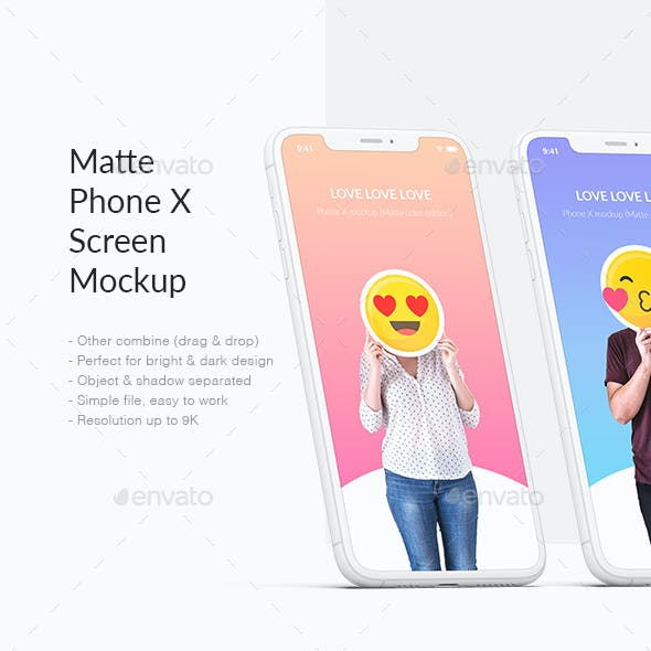 Unicolor Phone Mockup / UI / Web Showcase / App Screen Mockup
