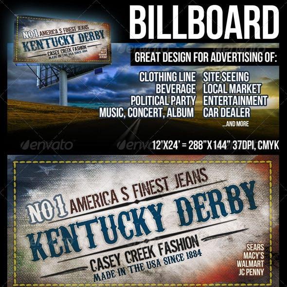 Billboard Design in Large 12'x24' Size