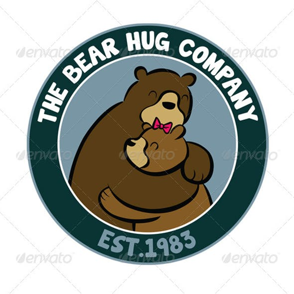 Bear Hug Animal Logo