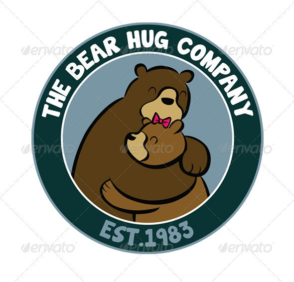 Bear Hug Animal Logo - Animals Logo Templates