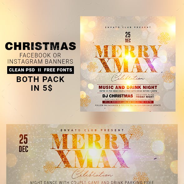 Christmas Instagram Banner & Facebook Cover