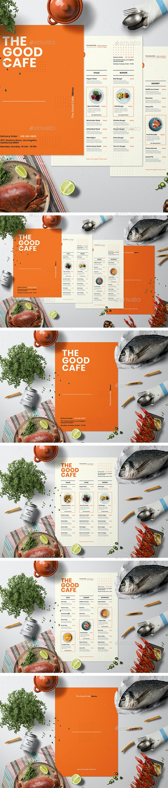 Restaurant Menu Set - Food Menus Print Templates