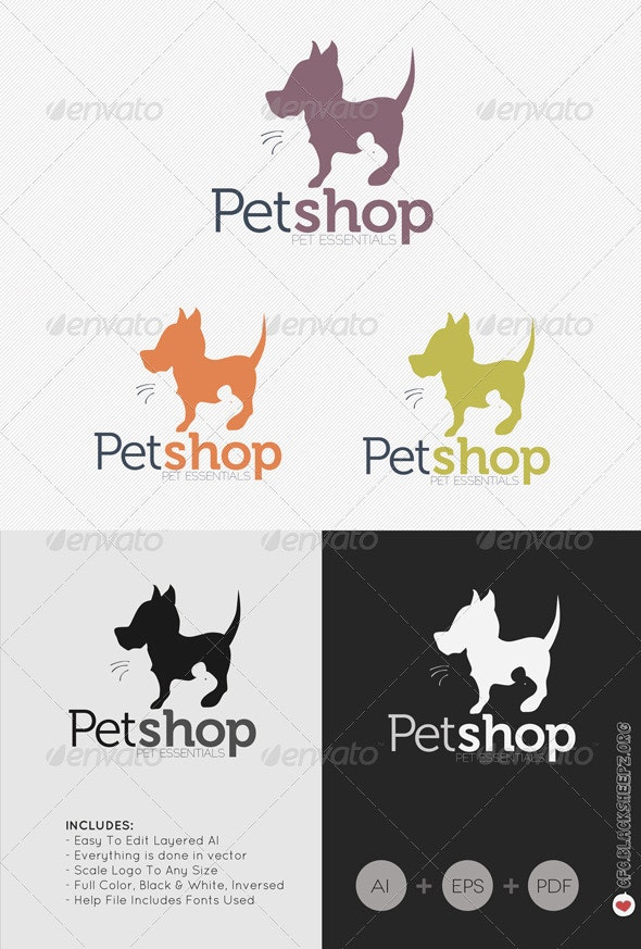 Pet Shop Logo - Animals Logo Templates