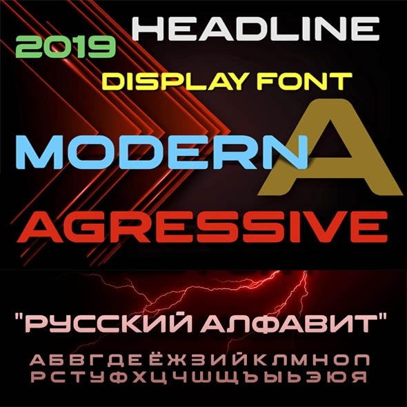 Agressive - Sans-Serif Fonts