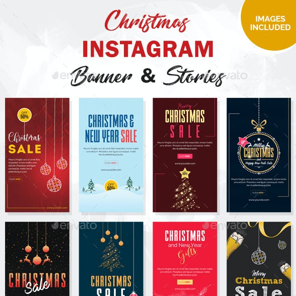 Christmas Instagram Story and Banner Templates