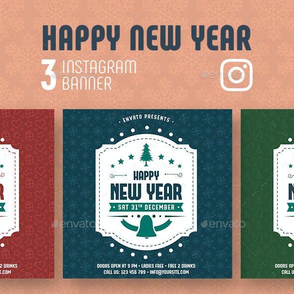 Happy New Year Instagram Banner