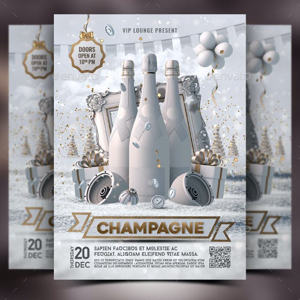 NYE Champagne Party Flyer