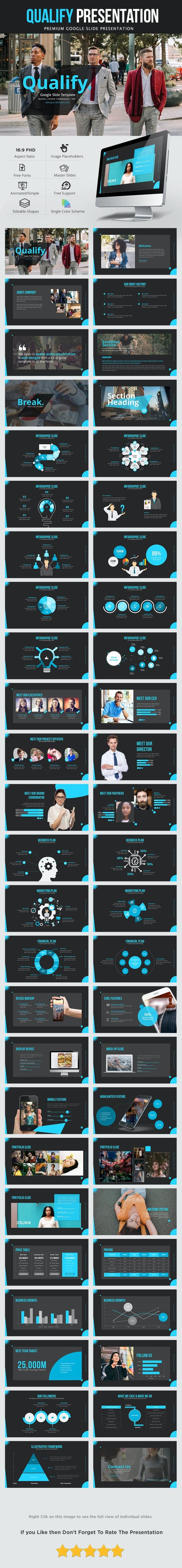Qualify Google Slide Presentation Template - Google Slides Presentation Templates