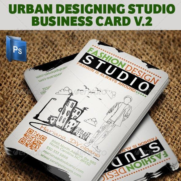 Urban Fashion Studio Business Card V2