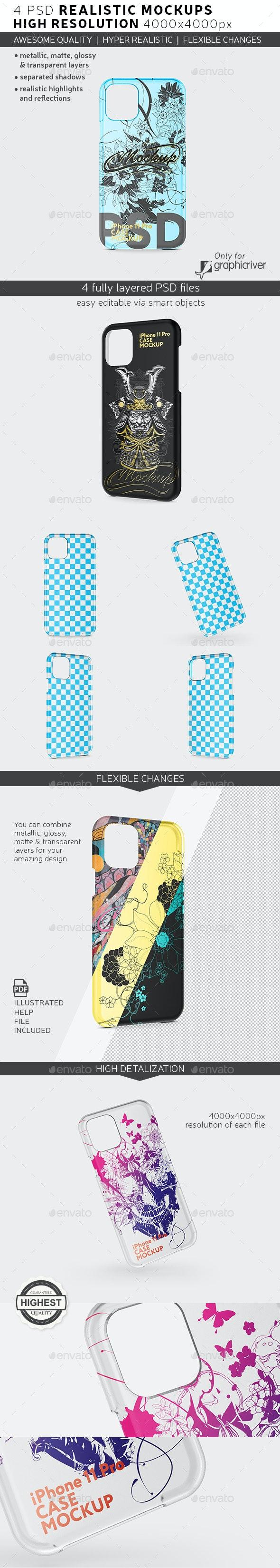 Phone 11 Case Mockup - Product Mock-Ups Graphics