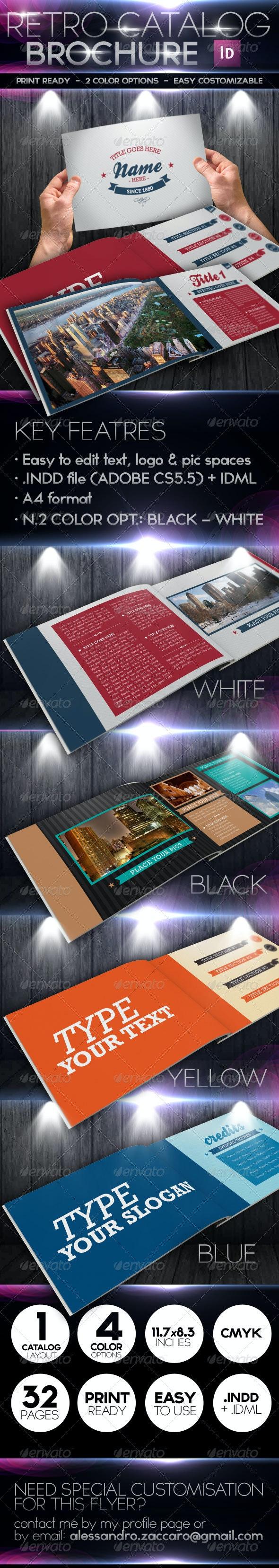 Retro Style Catalog Marketing Brochure - Brochures Print Templates