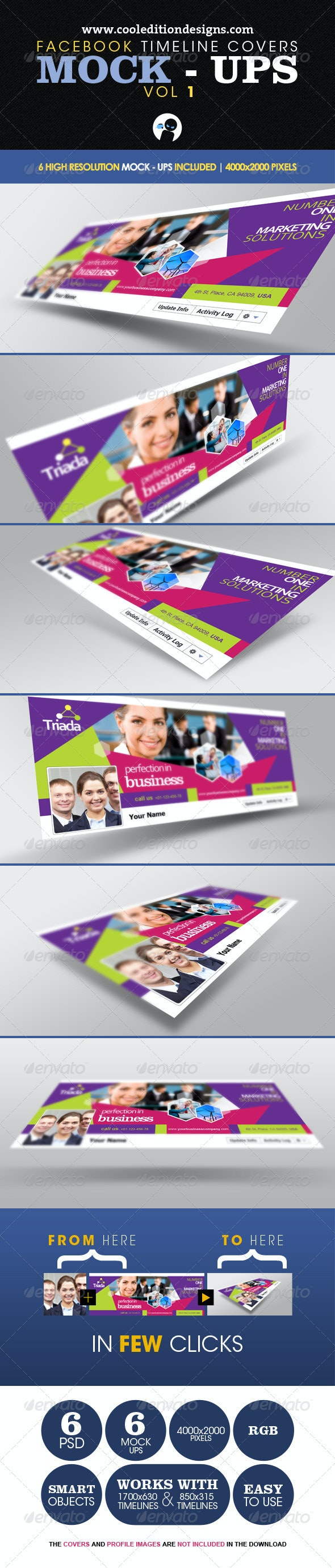 Facebook Timeline Covers Mock-Ups VOL1 - Miscellaneous Print