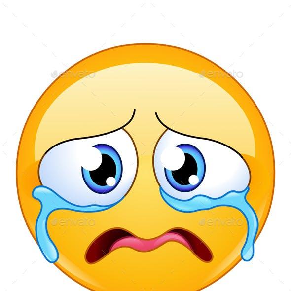 Sad Crying Emoticon