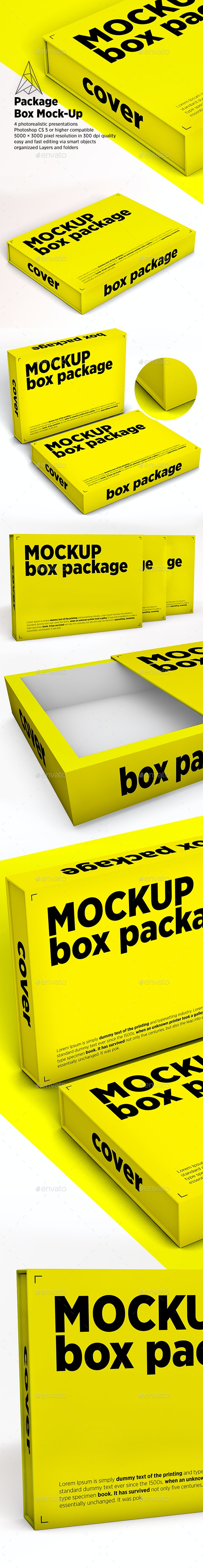 Package Box Mock-Up - Print Product Mock-Ups