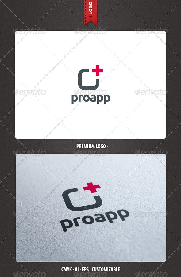 Pro App - Abstract Logo Template - Abstract Logo Templates
