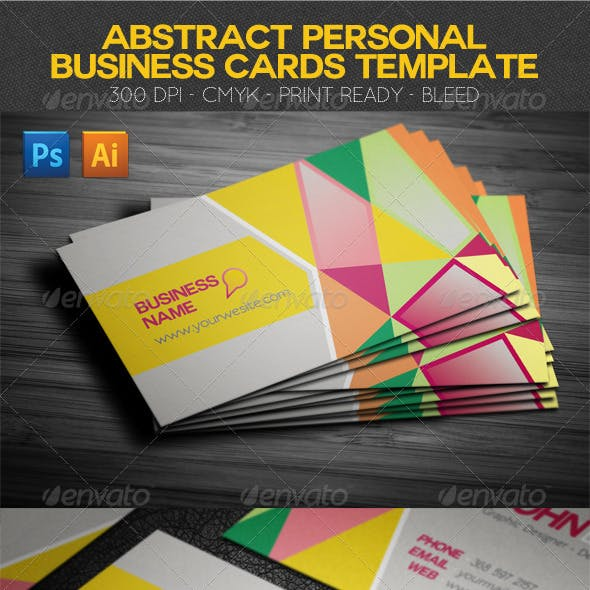 Abstract Personal Business Cards Template