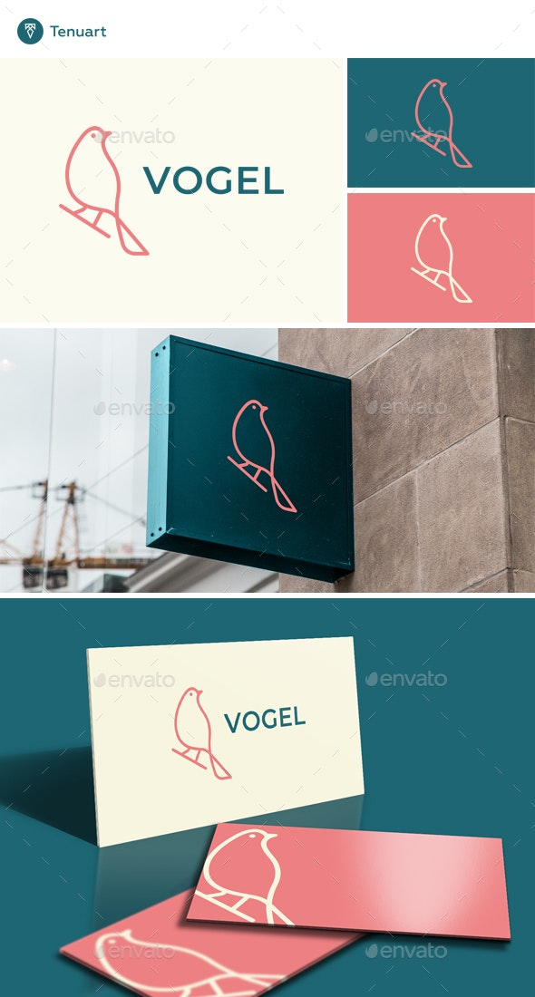 Vogel-Bird Logo - Animals Logo Templates