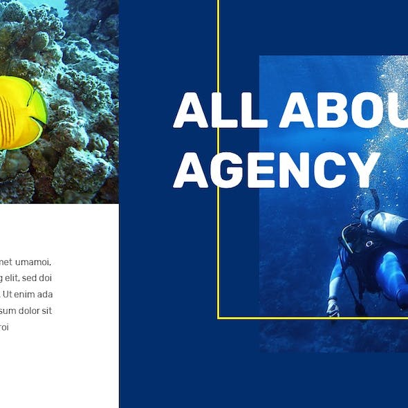 Dive - Travel Agency PowerPoint Template