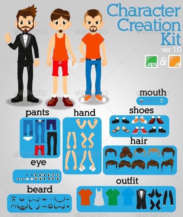 Character Creation Kit! - Characters Vectors