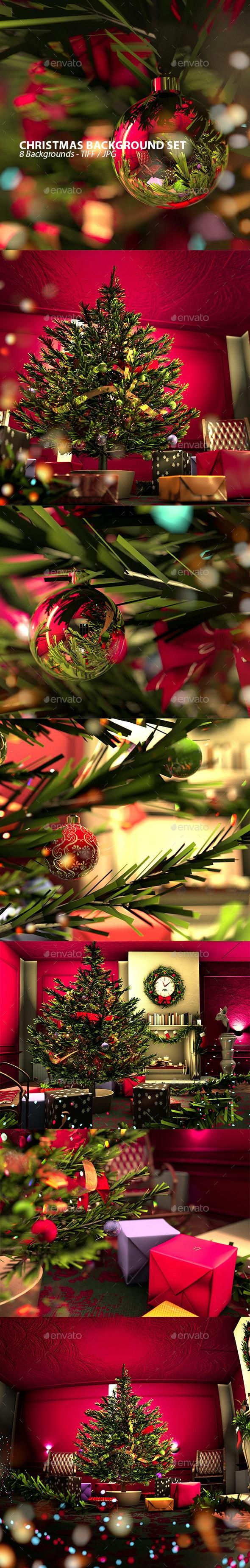 Christmas Spirit Background Set - 3D Backgrounds