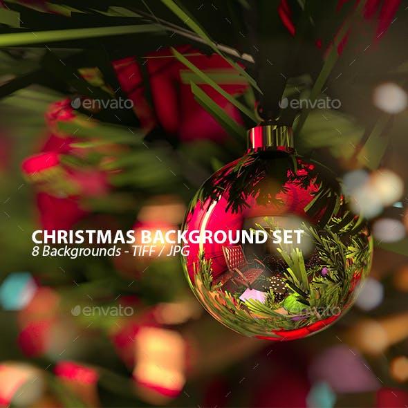 Christmas Spirit Background Set